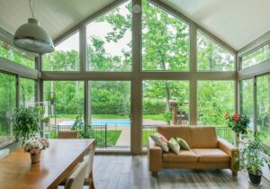 Window Replacement Okc Sunroom With View Of Pool